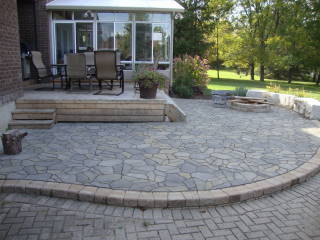 Do You Have An Unsightly, Uneven Or Sunken Walkway, Patio Or Garden Wall  That Is Paved With Interlocking Stone Or Flagstone Slabs?